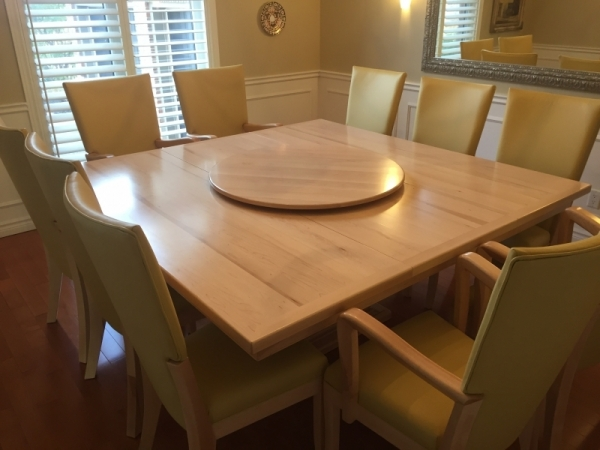Custom solid maple table and chairs